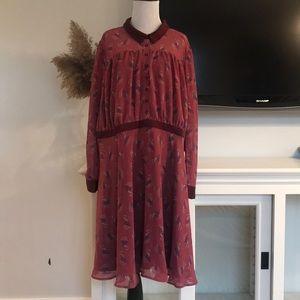 MODCLOTH 3X Peter Pan Collar Paisley Dress